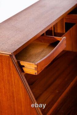 Mid Century Danish Modern Secretary Desk Bureau Denmark Teak Drawers Dyrlund Mcm