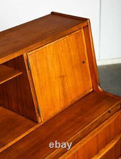 Mid Century Danish Modern Secretary Desk H. C Mobler Bureau Denmark Teak Drawers