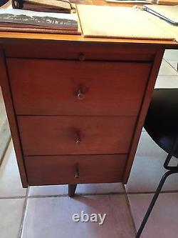 Mid-Century Modern Paul McCobb Brown Maple Planner Group Desk
