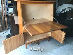 Mid Century Scandinavian style fold out secretary desk