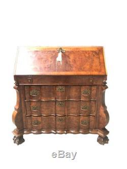 Nice Antique French Secretary Desk, Walnut, Burl woods, 1930-40's