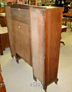 Oak Double Secretary Bookcase Side by Side Antique Original Finish