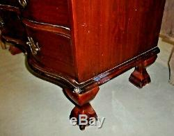 Outstanding Mahogany Governor Winthrop Secretary Drop Front Desk Claw and Ball