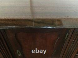 PERIOD ENGLISH GEORGIAN 1700's MAHOGANY CHIPPENDALE DROP FRONT SECRETARY DESK