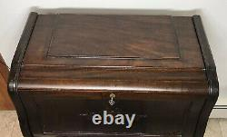 Rare Antique Ladies Davenport Portable Mahogany Secretary Desk (Circa 1890-1910)