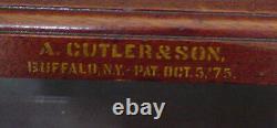 Rare Cutler & Son Glass Topped Desk 2898