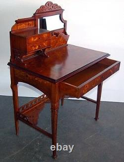 Rare Pair of Art Nouveau Inlaid desks Signed Emile Gallé #6261A
