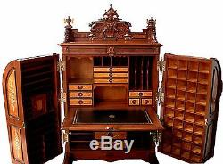 Renaissance Revival Wooton Extra Grade Patent Secretary Desk #5675