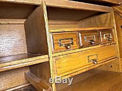 Roll Top Desk Writing Table Vintage Chest Vanity Secretary Server Drawers Modern