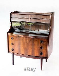 Rosewood Secretary Desk by Gunnar Falsig Danish Mid Century Modern