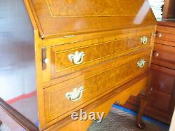 STUNNING Antique JAMES McCREERY Drop Front Writing Desk Secretary Cabinet withKey