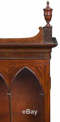 SWC-Rare Sheraton Mahogany Cylinder Secretary Desk, Seymour, Boston, c. 1810