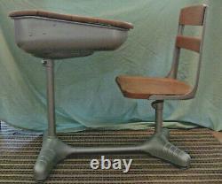 School Desk & Chair Wood & Metal Hybrid Learning Chromebook Workspace