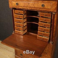 Secretaire furniture desk in wood bureau sideboard cabinet antique style 900