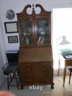 Secretary Desk claw and ball feet Mahogany Chippendale, Maddox Style