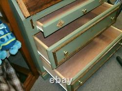 Secretary Desk with Cabinet Homemade Painted Solid Wood 93 tall x 37-1/2 wide