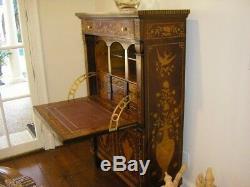 Secretary Inlaid Wood Desk