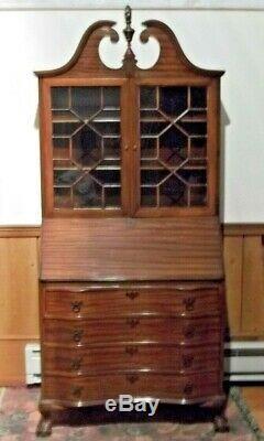Secretary cabinet-desk, mahogany Governor Winthropstyle ca. 1920s-1940s
