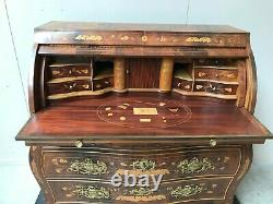 Showy Vintage Italian Desk/ Secretary, Walnut with Inlay 1930-40's