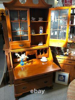 Skandia Furniture Cherry colored Desk Secretary Cabinet