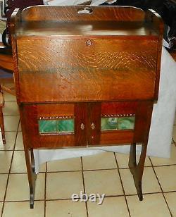 Solid Quartersawn Oak Arts & Crafts Dropfront Desk / Cabinet (DR64)