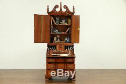 Traditional Georgian Style Mahogany Vintage Secretary Desk & Bookcase #30862