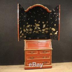 Trumeau bureau furniture desk secrétaire cabinet lacquered wood antique style