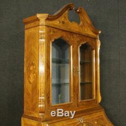 Trumeau fore cupboard secretary desk secrétaire wood inlaid antique style 900