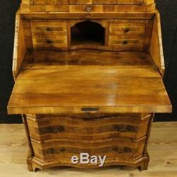 Trumeau inlaid wood mirror furniture secretaire desk cabinet antique bureau