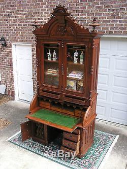 Unparalleled Victorian Renaissance Secretary Desk