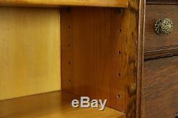 Victorian Antique Oak Side by Side Secretary Desk & Bookcase #31422