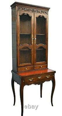 Vintage Baker Country French Style Secretary Desk withFlip Top Leater Wrining Surf