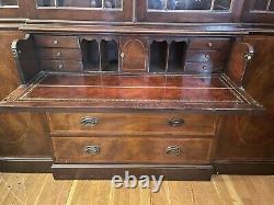 Vintage Baker Furniture Bookcase Breakfront Secretary Desk