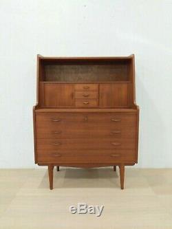 Vintage Danish Modern Teak Secretary Desk