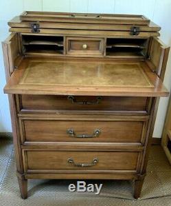 Vintage Desk Dresser Mid Century Modern Fold Top Bachelors Secretary Good Condit