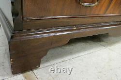 Vintage English Feather Mahogany Secretary Desk