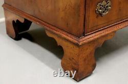 Vintage Georgian Slender Yew Wood Secretary Desk