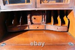 Vintage Governor Winthrop Style Walnut Ball and Claw Secretary Desk Cabinet