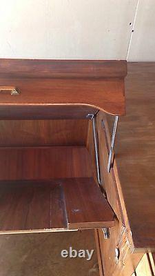 Vintage Industry, Teachers Hidden Typewriter Desk Standard Herkimer County N. Y