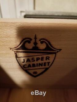 Vintage Jasper Solid Mahogany Secretary Desk ORIENTAL CHINOISERIE