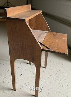 Vintage Oak Small Secretary Desk