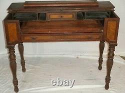 Vintage Spinet Mahogany Flip-top Secretary Desk 19th Century, 41x 20 approx