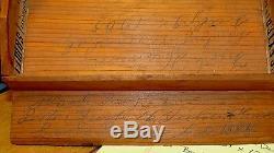 Vtg 1885 Wooden Roll Top Secretary Desk Bookcase Hansen Family Santa Barbara