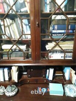 Vtg Antique Mahogany Ball Claw Leg Chippendale Drop Front Writing Desk Secretary
