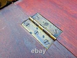 Vtg R. J. Horner Drop Front Desk Inlay Mop Brass Pulls Slant Desk Late 1800's Nr