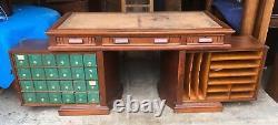 Walnut And Burl Flat Top Wooton Desk