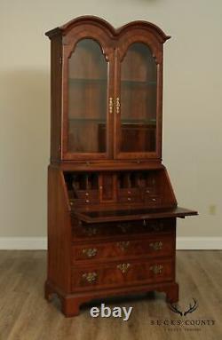 Weiman George III Style Walnut Double Bonnet Top Secretary Desk