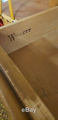 Willett Vintage Mid Century Modern Secretary Office Desk